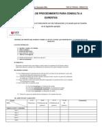 Propuesta de Procedimiento Para Consulta a Expertos