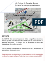 Projeto arquitetônico- Cortes