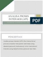 Konsep Analisa Proses Interaksi