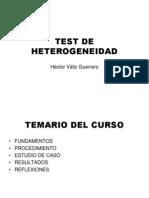 Test de Heterogeneidad