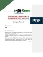 Dussel Enrique Historia de La Filosofia Y Filosofia de La Liberacion