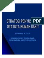 4 Strategi Penyusunan Statuta RS