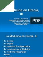 La Medicina en Grecia, III