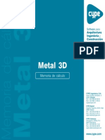 7.- Metal 3D Clásico - Memoria de Cálculo