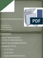 134167289 Solar Refrigeration Ppt