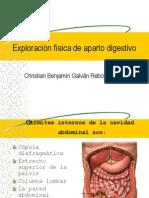 Exploración física de aparto digestivo