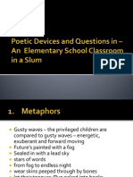 Poetic Devices in – An  Elementary School Classroom