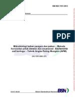 Mikrobiologi Metode Horizontal Deteksi Enumerasi E. Coli - Teknik APM_SNI ISO 7251-2012_web