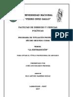 La Extradición en el Perú - José Delgado