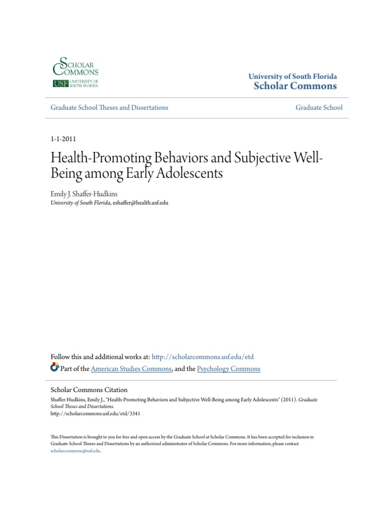 Subjective well-being in older adults