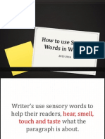 Sensory Words in Writing