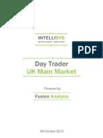 day trader - uk main market 20131008