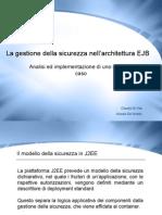 La gestione della sicurezza nell'architettura EJB
