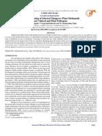 Comparative Screening of Selected Mangrove Plant Methanolic