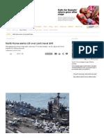 North Korea Warns US Over Joint Naval Drill - Asia-Pacific - Al Jazeera English