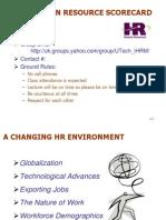 Lecture 3 - HRM Scorecard