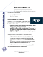 Product Pricing Research and Methodologies