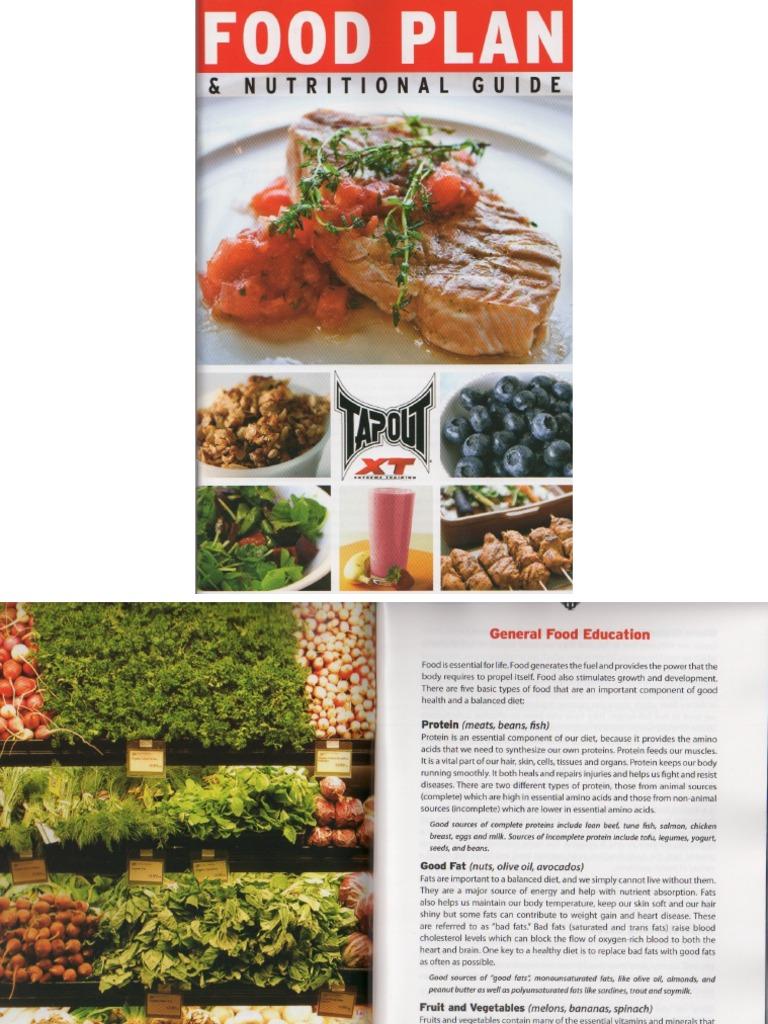 tapout xt food plan rh scribd com Nutrition Table tapout xt nutrition guide pdf