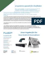 Datenblatt PosBill Handelsbundle Dorfladen