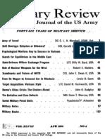 Military Review April 1968