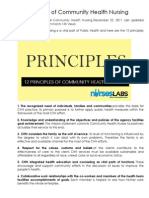 12 Principles of Community Health Nursing