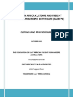 Eacffpc Customs Laws and Procedure Training Manual