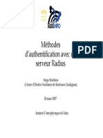 Méthodes d'authentification RADIUS