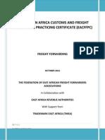 Eacffpc Freight Forwarding Module Training Manual