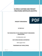 Eacffpc Freight Forwarding Module Training Manual