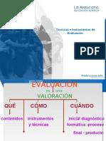 Tecnicas e instrumentos de Evaluación 05