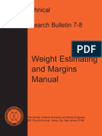 Weight Estimating and Margins Manual