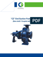 CGL Centrifugal End Suction Pump O & M Manual