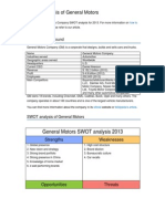 General Motors Swot Analysis