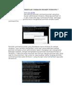 Daftar Lengkap Perintah Command Prompt Windows 7