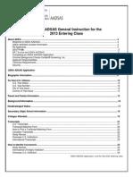 ADEA AADSAS General Instructions Booklet