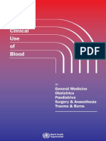 The Clinical Use of Blood