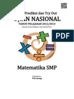 Soal Prediksi UN Matematika SMP 2014