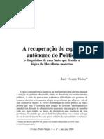 recuperação do espaço político autónomo