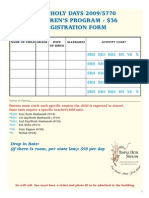 HH Children's Registration