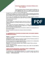 Código de Etica Profesional para Martilleros y Corredores Públicos de la Prov