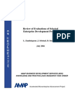 mR 3 - Review of Evaluations of Selected Enterprise Development Projects