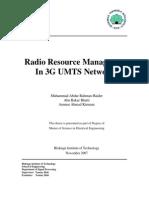 Radio Resource Management UMTS Networks