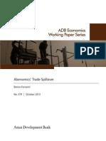 Abenomics' Trade Spillover