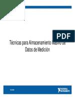 Tecnicas Para Almacenamiento Masivo de Datos de Medicion