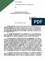 Politica de Coordinacion Nacional de INFORMATICA