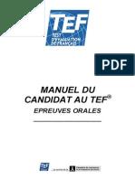 Manuel Du Candidat TEF Preuves Orales