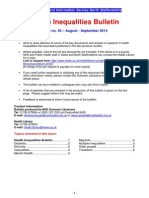 Health Inequalities Bulletin Issue No. 40 Aug/Sep 2013