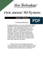 ProCinema60 Manual 12909 Read