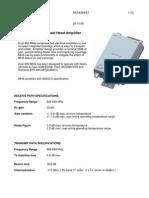 MHA 850 MHz Datasheet