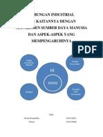 HUbungan industrial dan Manajemen Sumber Daya Manusia